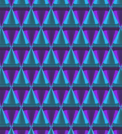 3d crystal cone pattern pink blue Sticker