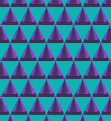 3d cone and triangle pattern Sticker
