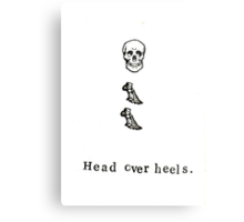 Head Over Heels Anatomy Metal Print