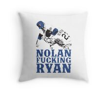 Nolan Fucking Ryan - One of the Greatest Pitchers of All Time Hammering Robin Ventura Throw Pillow