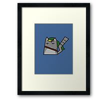 Link Cat Framed Print