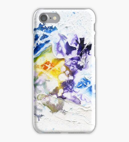 Blue, purple and yellow abstract iPhone Case/Skin