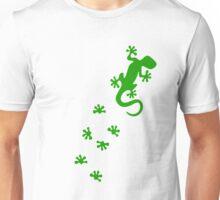 Green Lizard Footprints Design Unisex T-Shirt