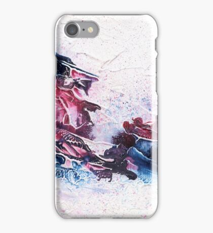 Blue and purple abstract  iPhone Case/Skin