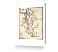 Plan de Monaco - 1764 Greeting Card