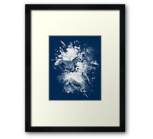 zebra splashed  Framed Print