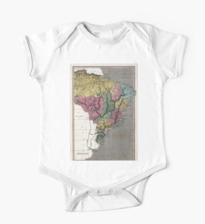Map of Brazil - 1822 One Piece - Short Sleeve