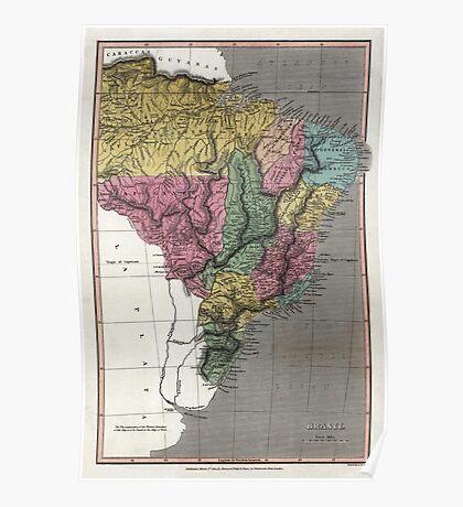 Map of Brazil - 1822 Poster