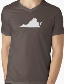 Virginia Plain Mens V-Neck T-Shirt