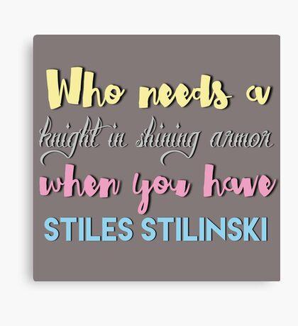 Stilinski - Teen Wolf Canvas Print
