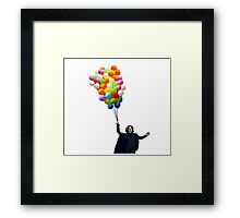 snape with balloons Framed Print