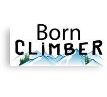Born Rock Climber Canvas Print