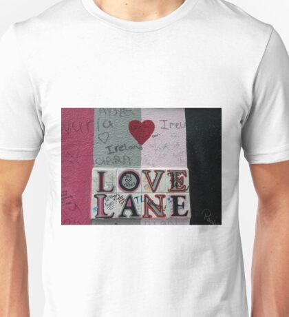 Love Lane Graffiti Unisex T-Shirt