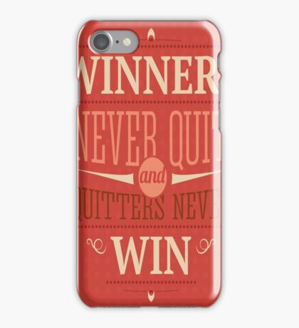 VP_M002 WINNERS NEVER QUIT iPhone Case/Skin