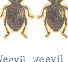 Weevil Weevil Rock You Sticker