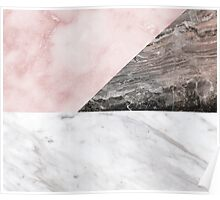 Smokey marble blend Poster