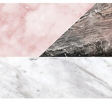 Smokey marble blend Photographic Print