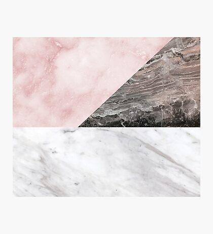 Smokey marble blend Photographic Print