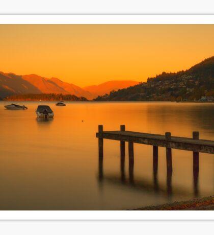 Queenstown Sunrise, New Zealand Sticker