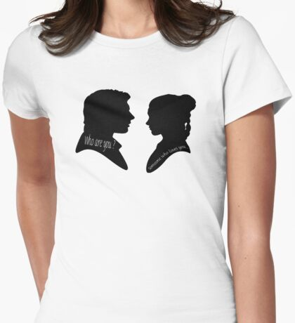 Someone who loves you • Princess Leia Han Solo Womens Fitted T-Shirt