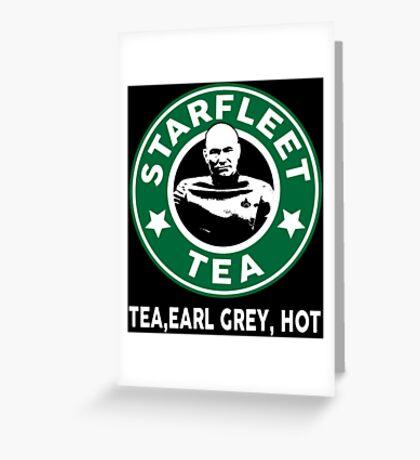 Captain Picard's Starfleet Tea Greeting Card