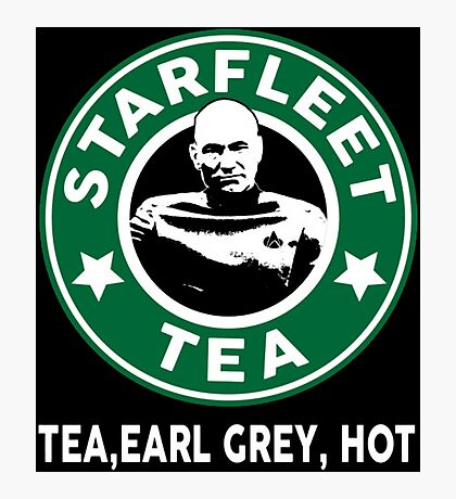 Captain Picard's Starfleet Tea Photographic Print
