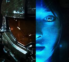 Master Chief and Cortana by ghosthousedsign