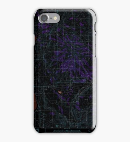 USGS TOPO Map California CA West of Snowstorm Mtn 102446 1989 24000 geo Inverted iPhone Case/Skin
