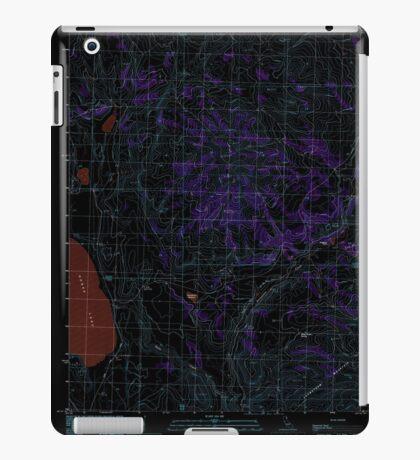 USGS TOPO Map California CA West of Snowstorm Mtn 102446 1989 24000 geo Inverted iPad Case/Skin