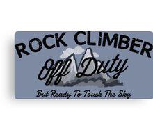 Rock Climber Off Duty Canvas Print