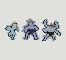 Machop trio by Rjcham