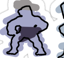 Machop trio Sticker