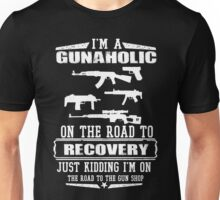 Gunaholic on the road to recovery Unisex T-Shirt