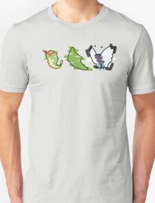 Caterpie, Metapod, Butterfree Trio T-Shirt