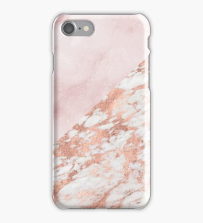 Rose gold & pinks marble iPhone Case/Skin