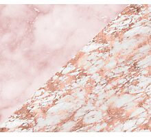 Rose gold & pinks marble Photographic Print