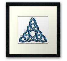 Bee Blue Celtic Triskel Framed Print
