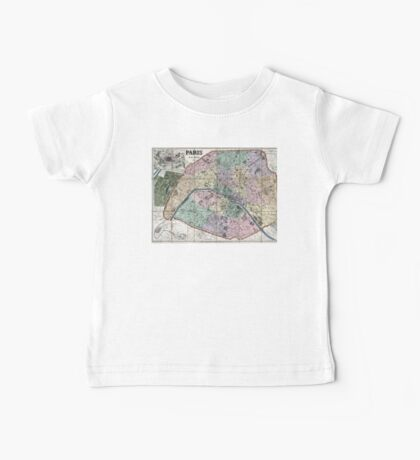 Map of Paris, France - 1878 Baby Tee