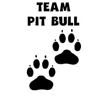 Team Pit Bull Photographic Print
