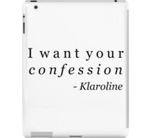 Klaroline Confession iPad Case/Skin