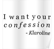 Klaroline Confession Poster