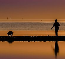 Sunset walkers by Frank Smith
