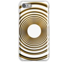 abstract futuristic circle gold pattern iPhone Case/Skin