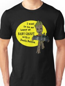 Baby Groot with a Death Button Unisex T-Shirt