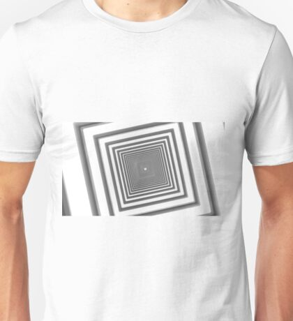 abstract futuristic square corridor Unisex T-Shirt