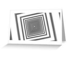 abstract futuristic square corridor Greeting Card