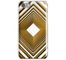 abstract futuristic square gold pattern iPhone Case/Skin