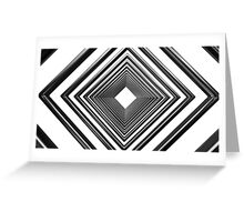 abstract futuristic square pattern Greeting Card