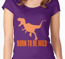 T-REX BORN TO BE WILD Women's Fitted Scoop T-Shirt