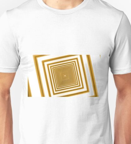 abstract futuristic square yellow corridor Unisex T-Shirt